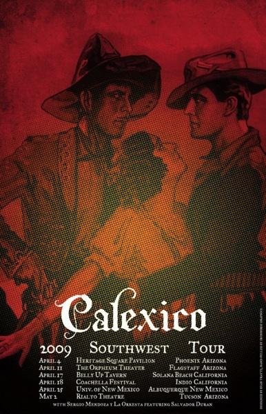 calexico sw tour poster