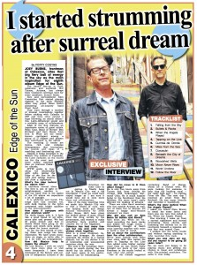 Calexico - The Sun (feature) - 15.05.2015