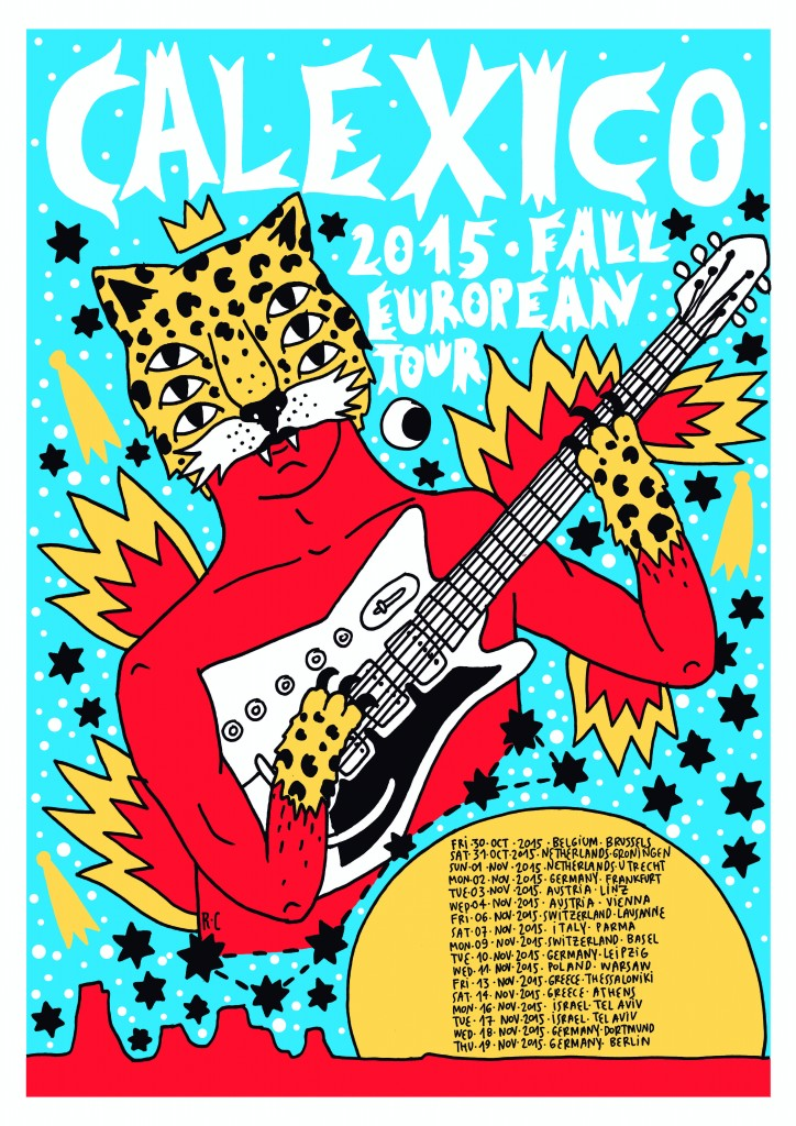 Calexico Fall Tour Poster Europe