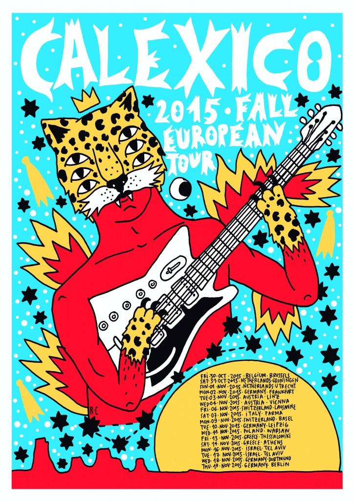 Calexico Fall Tour Poster Europe